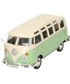 Modelauto volkswagen t1 samba groen 1 24