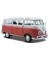 Modelauto volkswagen t1 samba rood 1 24