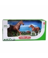 Mustang paard met veulen plastic