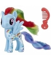My little pony speelfiguur paardje rainbow dash 4 cm