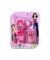 Poppen speelgoed mobiel met tasje