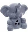 Porseleinen spaarpot blauwe olifant 10 cm