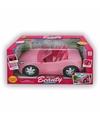 Roze poppen auto 33 cm