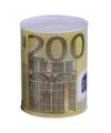 Spaarpot 200 euro biljet 16 cm