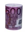 Spaarpot 500 euro biljet 16 cm