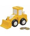 Spaarpot gele bulldozer