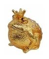 Spaarpot kikker koning goud 18 cm type 1