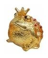 Spaarpot kikker koning goud 18 cm type 2
