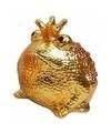 Spaarpot kikker koning goud 18 cm type 3