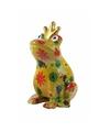 Spaarpot kikker met kroontje geel 22 cm type 3