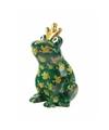 Spaarpot kikker met kroontje groen 22 cm type 5
