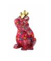Spaarpot kikker met kroontje rood 22 cm type 4