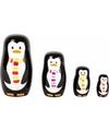 Speelgoed houten pinguins matroesjka set van 4
