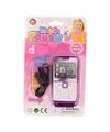 Speelgoed mobiele telefoon roze