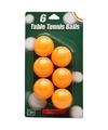 Speelgoed tafeltennis balletjes oranje 6 stuks