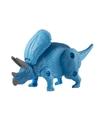 Speelgoed triceratops blauwe dinosaurus 12 cm