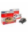 Speelgoed witte fiat 500 classic auto 1 36