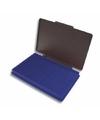 Stempelkussen blauw 7 x 11 cm