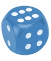 Xxl houten dobbelsteen blauw